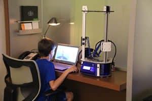 Kid Using Orion Delta Desktop