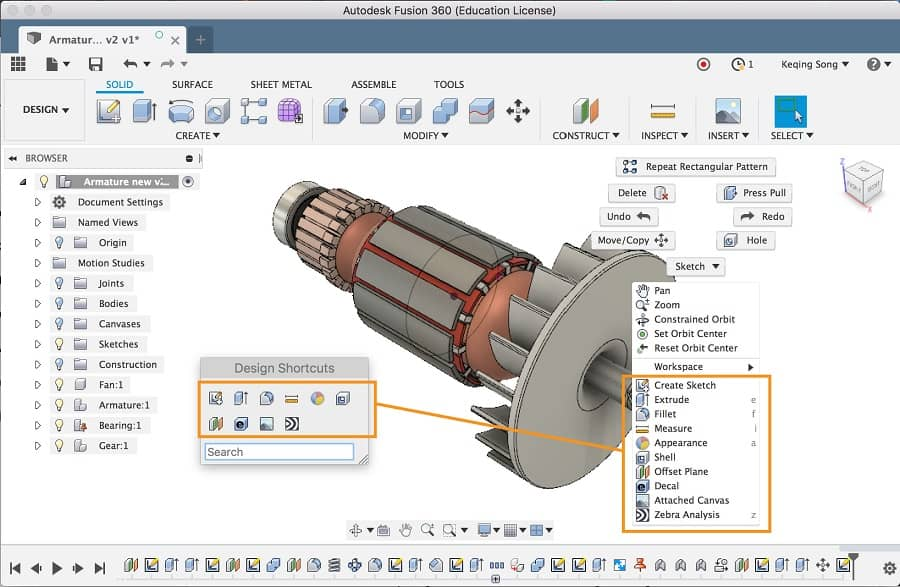 Fusion 360 Features